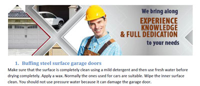 Tips - Garage Door Repair Wheeling