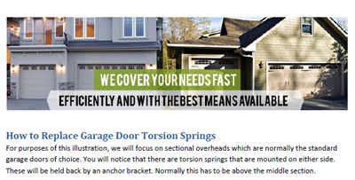 How to Replace Garage Door Torsion Springs - Garage Door Repair Wheeling